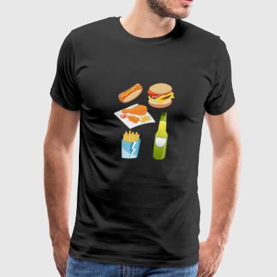 french fries pommes frites fastfood fast food8 - Men's Premium T-Shirt