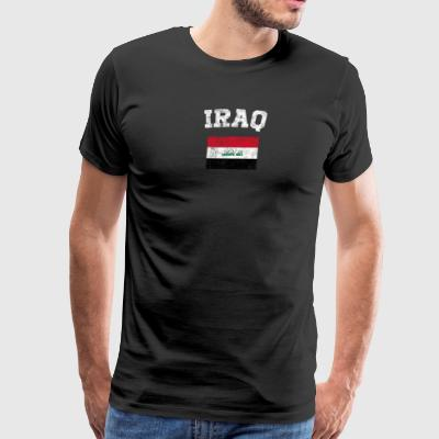 Iraqi Flag Shirt - Vintage Iraq T-Shirt - Men's Premium T-Shirt