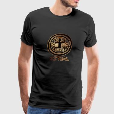 Ritual #9 (Inca, Gold & Black) - Men's Premium T-Shirt