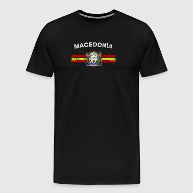 Macedonian Flag Shirt - Macedonian Emblem & Macedo - Men's Premium T-Shirt