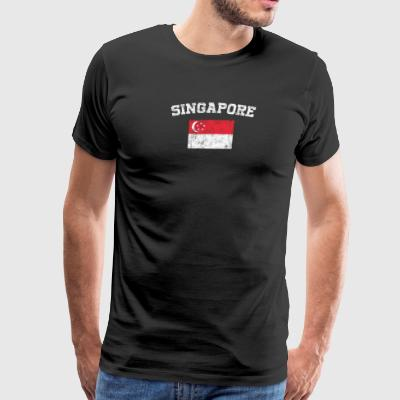 Singaporean Flag Shirt - Vintage Singapore T-Shirt - Men's Premium T-Shirt