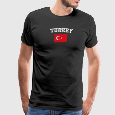 Turk Flag Shirt - Vintage Turkey T-Shirt - Men's Premium T-Shirt