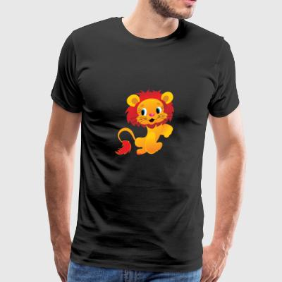 isolated lion - Men's Premium T-Shirt