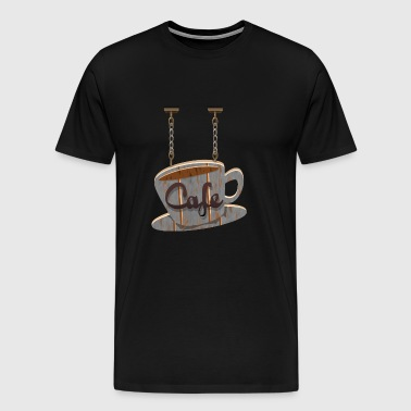cafe - Men's Premium T-Shirt