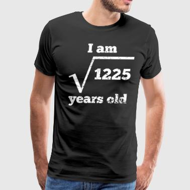 35th Birthday Square Root - Men's Premium T-Shirt