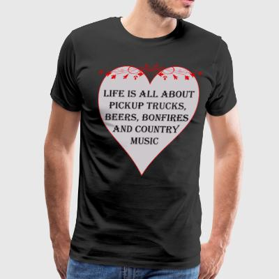 Life is all about Country Music - Men's Premium T-Shirt