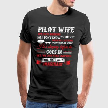 Pilot Wife T Shirt - Men's Premium T-Shirt