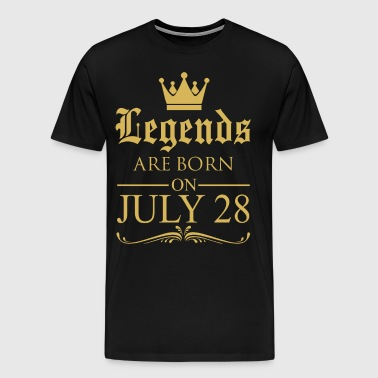 Legends are born on July 28 - Men's Premium T-Shirt