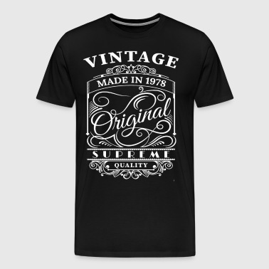 Vintage Made in 1978 Original - Men's Premium T-Shirt