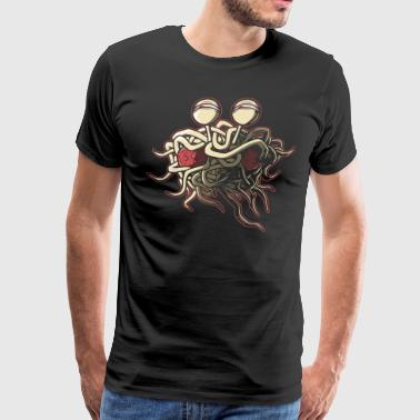 Scheming Flying Spaghetti Monster - Men's Premium T-Shirt