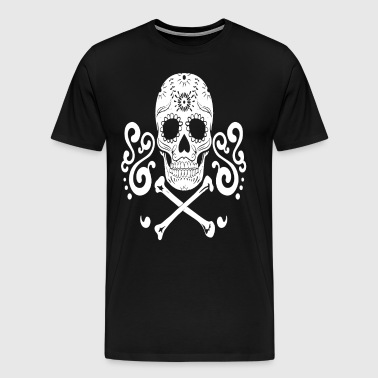 5 Of 5 Sugar Skull Line Shirt - Men's Premium T-Shirt