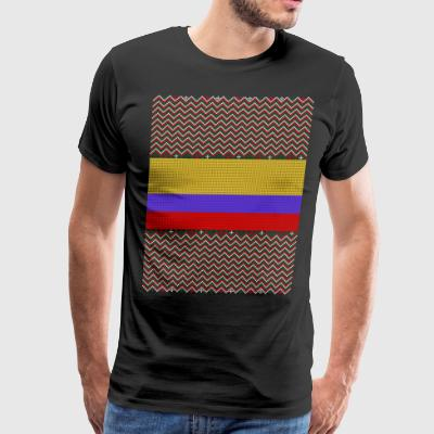 Colombian Ugly Christmas Sweater - Men's Premium T-Shirt