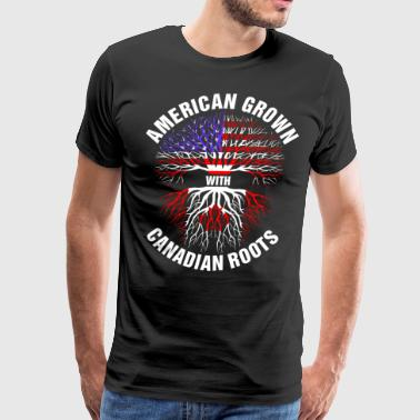 American Grown Canadian Roots - Men's Premium T-Shirt