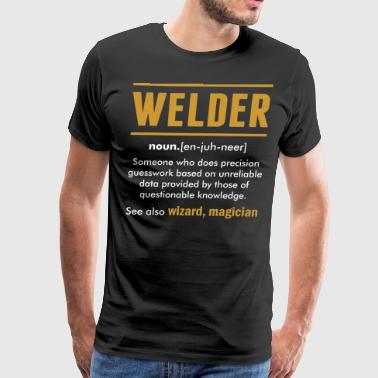 Welder Wizard Magician - Men's Premium T-Shirt