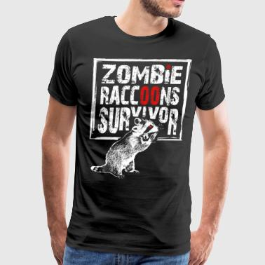 zombie raccoons survivor - Men's Premium T-Shirt