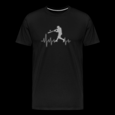 Baseball Heartbeat for Baseball Players - Men's Premium T-Shirt
