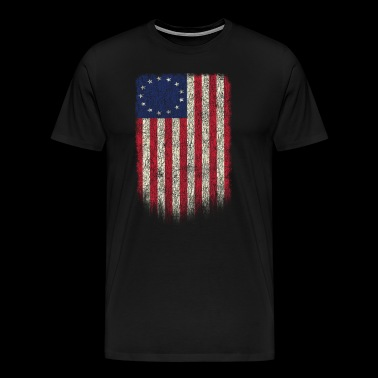 Betsy Ross Shirt 4th Of July American Flag - Men's Premium T-Shirt