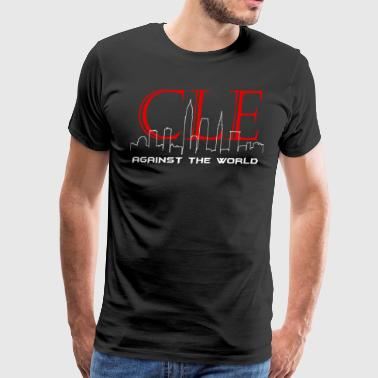 Cleveland Against the World Cityscape - Men's Premium T-Shirt