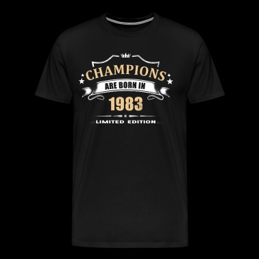 Champions Are Born In 1983 - Orange - Men's Premium T-Shirt
