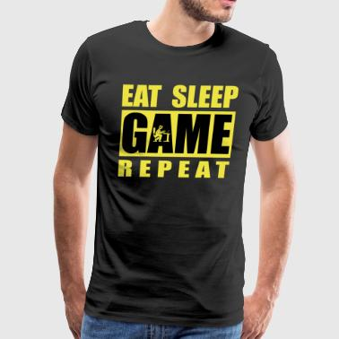 eat sleep game repeat - gamer design - Men's Premium T-Shirt