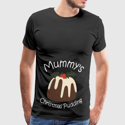 Mummy's Christmas Pudding Maternity Pregnancy - Men's Premium T-Shirt