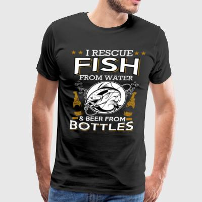 FISH FROM WATER AND BEER FROM BOTTLES - Men's Premium T-Shirt