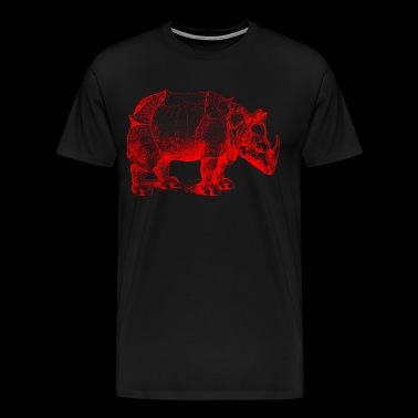 rhinoceros of durer red illustartion animal - Men's Premium T-Shirt