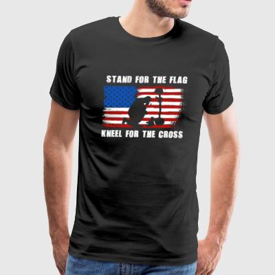 Stand For The Flag Kneel For The Cross T-Shirt - Men's Premium T-Shirt