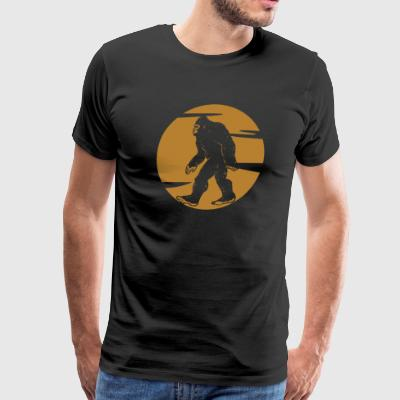 Big Foot Silhouette - Men's Premium T-Shirt