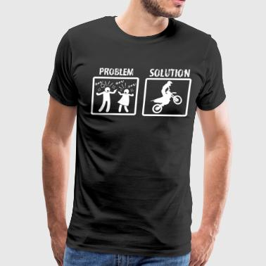 Problem Solution Biking - Men's Premium T-Shirt