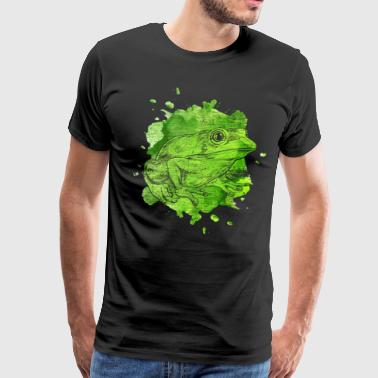 Frog watercolor - Men's Premium T-Shirt