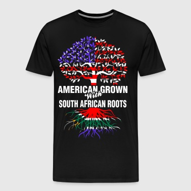 American Grown With South African Roots - Men's Premium T-Shirt