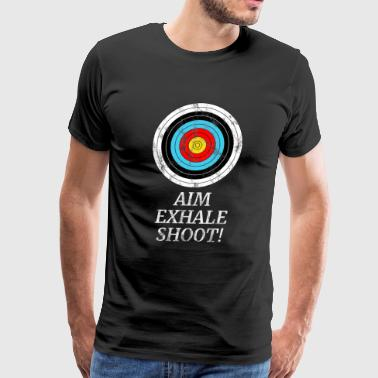 ARCHER TARGET ARCHERY BOW AND ARROW GIFT SHOOTING - Men's Premium T-Shirt