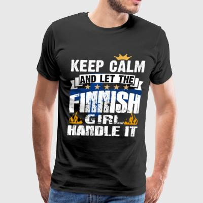 Let The Finnish Girl Handle It T Shirt - Men's Premium T-Shirt