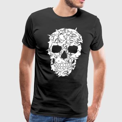Shark Skull t-shirts - Men's Premium T-Shirt