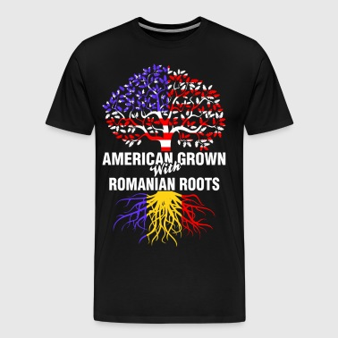 American Grown With Romanian Roots - Men's Premium T-Shirt
