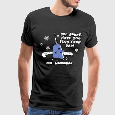 Elf Christmas Mr Narwhal - Men's Premium T-Shirt