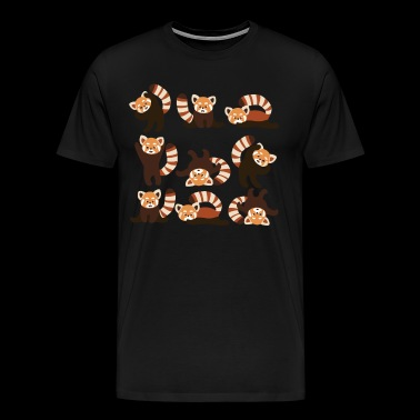 Red Panda Yoga Shirt - Men's Premium T-Shirt