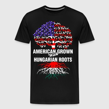 American Grown With Hungarian Roots - Men's Premium T-Shirt