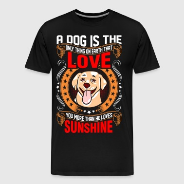 A Dog Is The Love Labrador Retriever - Men's Premium T-Shirt