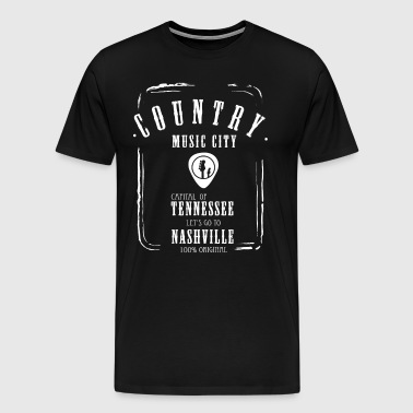 country music Tennessee Nashville gitarre band - Men's Premium T-Shirt