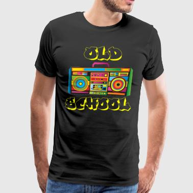Old School Boom Box Hip Hop Rap Shirt - Men's Premium T-Shirt