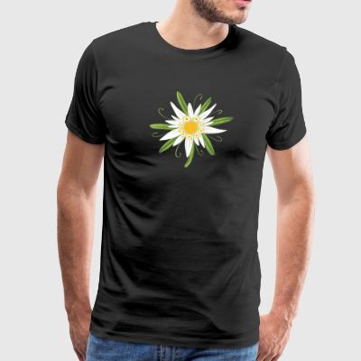 Edelweiss, big flower for the Oktoberfest. - Men's Premium T-Shirt