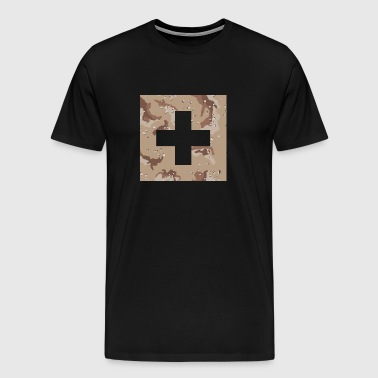 Military Swiss Flag - Men's Premium T-Shirt