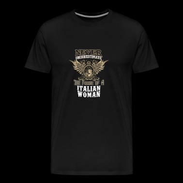 Italian woman - Power of an italian woman - Men's Premium T-Shirt