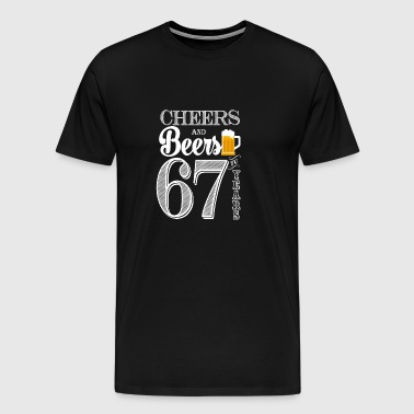Cheers and Beers To 67 Years - Men's Premium T-Shirt