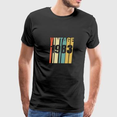 Vintage 1983 Retro - Men's Premium T-Shirt