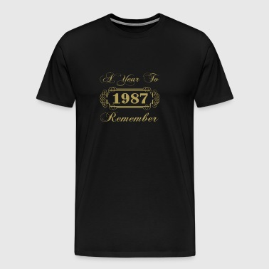 1987 A Year To Remember - Men's Premium T-Shirt
