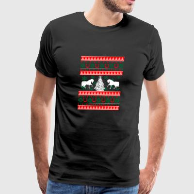 Ugly Horse Christmas Sweater Xmas - Men's Premium T-Shirt