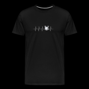Drums Heartbeat T-shirt - Men's Premium T-Shirt
